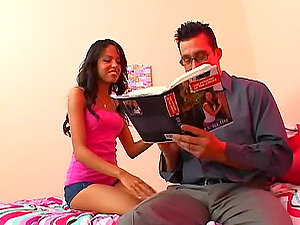 Billy Slide makes love to pretty brown-haired Zeina Heart
