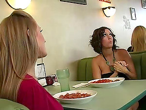 Abby Railed and Dylan Ryder entice a waiter and share his manstick