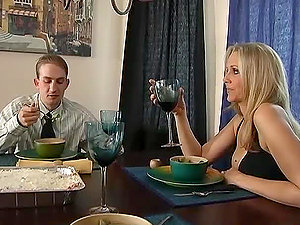 Huge-chested blonde cougar Julia Ann entices and fucks horny stud Ramon