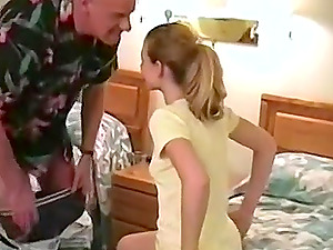 Horny blonde wife can't wait for her husband to pound her pussy