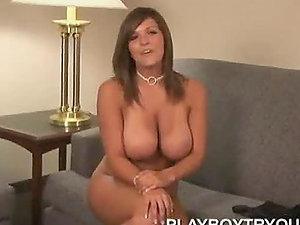 Big tittied Katie Renae unwraps at the interview