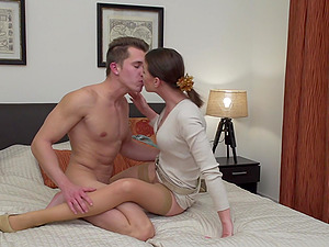 Gentle missionary fuck and cowgirl style riding with Caroline Ardolino