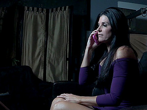 Tall mature bombshell India Summer hanged upside down and abused