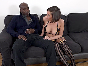Anabelle ass fucked by a black guy while her cuckold licks her pussy