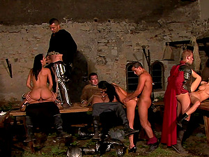 Anal costumed orgy with Janet Joy and her mature friends