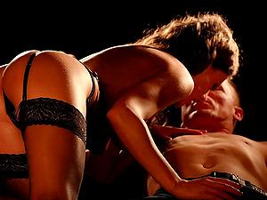 Tina Kay and her seductive girlfriends fulfill one guy's fantasies