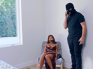 Madison Ivy fucked rough and gets a facial from a burglar