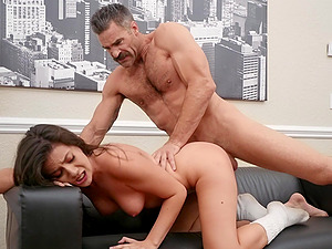 Nothing better than a juicy cumshot after a workout for Natalie Brooks