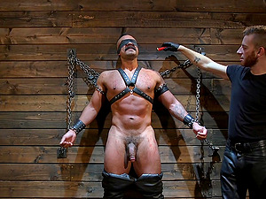 Mature Latino gay dude loves getting bound and abused hardcore