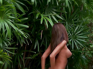 Cameron Haven is a huge-chested bombshell in the jungle