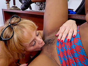 interracial lesbian fingering with Cherie Deville and Sizi Sev