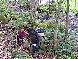 Lydya Moser adores fuck on the rocks in nature with her partner