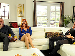 Redhead girl Lauren Phillips loves to fuck with her neighbors all day