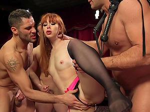 Alexa Nova adores memorable gangbang and sex games with handsome men