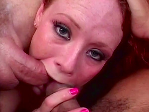 Young Redhead Mama Swallows Cocks For A Living