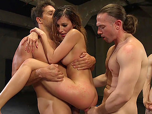 Moka Mora craves for a double penetration deep inside her wet holes