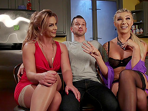 Group of horny friends decides to surprise Aubrey Kate with wild sex