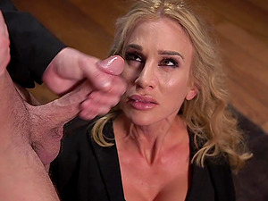 Tied blonde Sarah Jessie gets her pussy pleased by a friend's shaft
