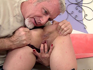 Hairy Mature Cristine Ruby Gets Pounded