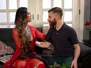 pretty Venus Lux adores foot fetish and a blowjob before rough sex