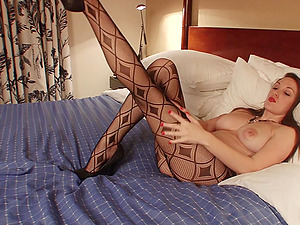 Big Breasted Beauty Teases With Vibrator