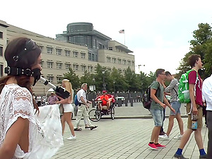 Hot Juliette March loves everything about humiliation in public