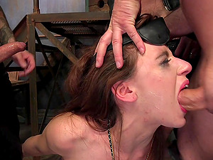 Audrey Holiday enjoys hard BDSM gangbang party after a long day