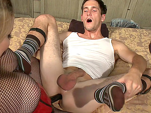 Adorable Aiden Starr uses a strapon to fuck her horny friend
