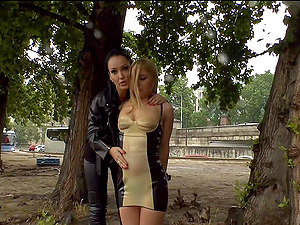 Slave girl Nikki Thorne tied up and humiliated by Fetish Liza