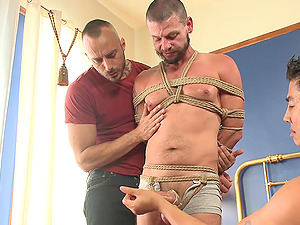 Torture and gay bondage are secret fantasies of handsome Tex Davidson