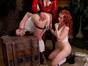 threesome with Kajira Bound and her lesbian girl is the best part of the day
