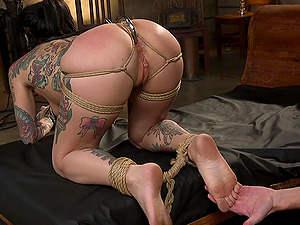 Joanna Angel gets her tight butt destroyed by a fat dick