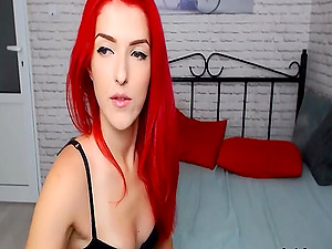 Redhead Lady yet naughty and calm is here to give her viewers a steady happiness