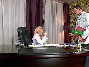 An Amazing Scene With Gorgeous Blonde Kathia Nobili
