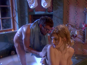 after romantic bath Faye Reagan and her boyfriend fuck without mercy