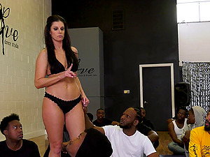 facial after amazing group fuck on the floor is all that India Summer wants