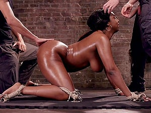 Ebony Lisa Tiffian is a real master of a blowjob before a doggy style