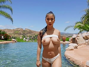 hot Jade Kush adores doggy style after a blowjob at the beach