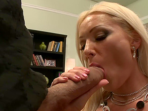 After a blowjob Diana Doll got her tight pussy fucked on the couch