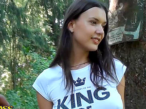 Hot School Femmes Getting Buzzed and Horny in the Forest