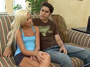 Skinny Hot Blonde Knows Her Way Around A Pole