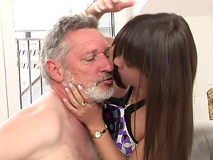 An Old Man's Fantasy Comes True As He Bangs A Gorgeous Junior Doll