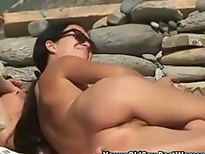 Russian Couple Blow And Fuck On Nudist Beach