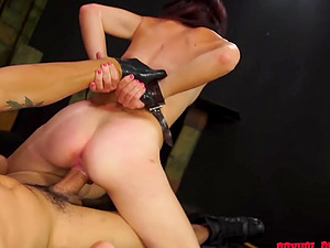 Tied brunette Kaisey Dean gets her pussy pleased by friend's penis