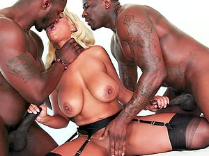 Interracial sex and a gangbang is the favorite thing of Bridgette B.