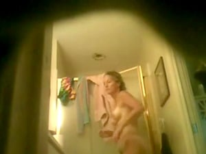 My wife after the shower. Hidden camera video. Very natural and pure.