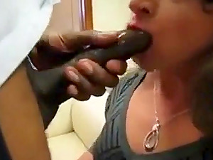 Crossdresser sucking bbc and gets fucked