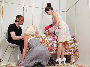 Kinky threesome with Maria Jade and Anastasia Rose is the best party