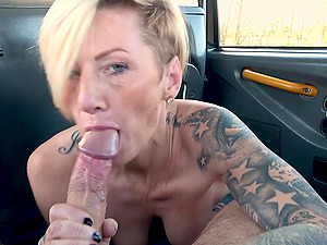 Angel Cruz is ready for hard fuck from behind with a dude in the taxi