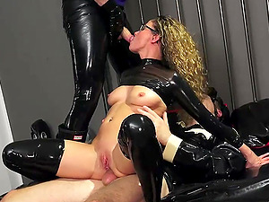 german skinny anal fetish latex milf threesome